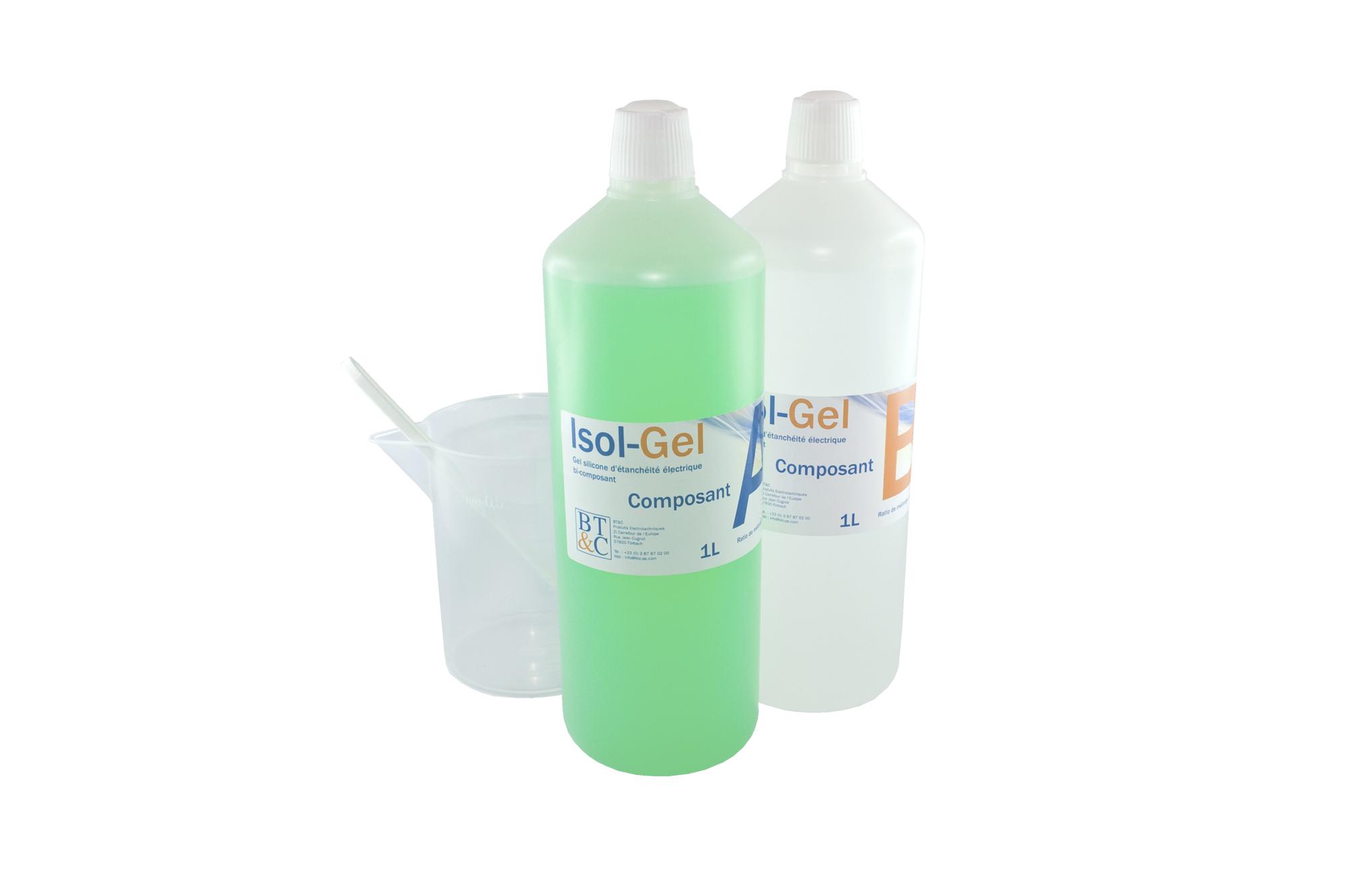 Gel silicone d'étanchéité électrique bi-composant Isol-Gel 2L